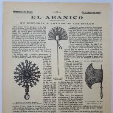 Collezionismo: EL ABANICO. SU HISTORIA A TRAVÉS DE LOS SIGLOS. 1905. Lote 128412283