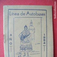 Coleccionismo: FERROCARRILES.-LINEA DE AUTOBUSES.-HORARIO.-CASA PERICO.-RESTAURANTE.-IMP. WALDO.-MURCIA.-AÑO 1954.. Lote 128468743