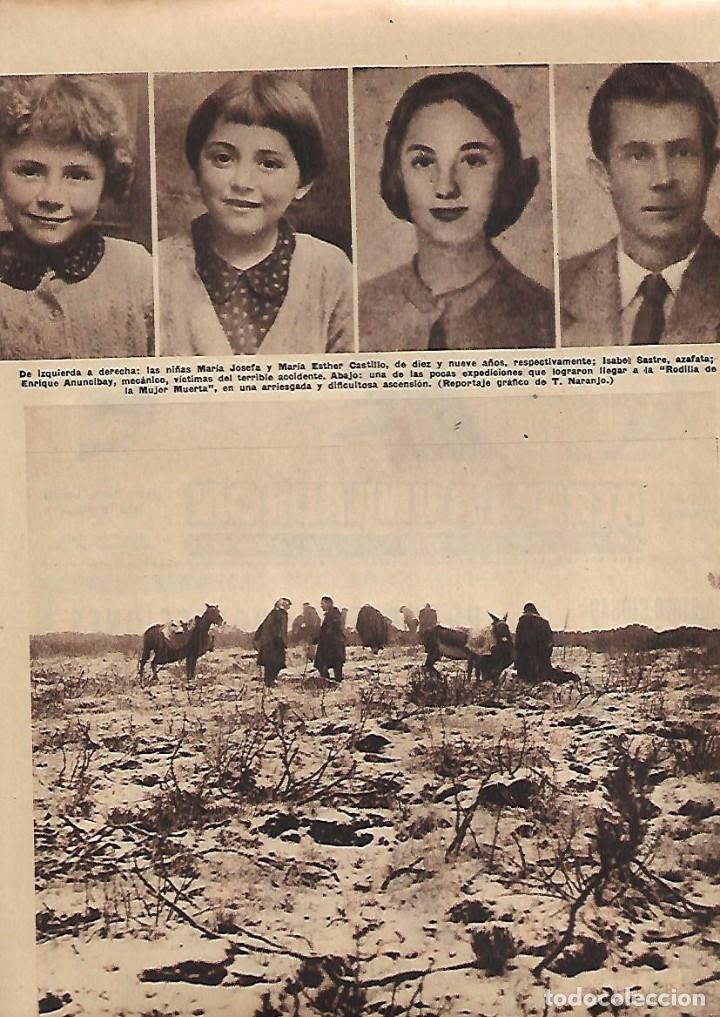 Coleccionismo: AÑO 1958 RECORTE PRENSA CATASTROFE ACCIDENTE AVIACION AVION LANGUEDOC PERDIDO EN SIERRA GUADARRAMA - Foto 3 - 128565999
