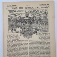 Coleccionismo: EL CIRCO MÁS GRANDE DEL MUNDO. 1905. Lote 128700840