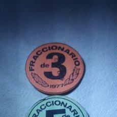 Coleccionismo: DINERO FRACCIONARIO DEL AÑO 77 Y 78. Lote 128733624