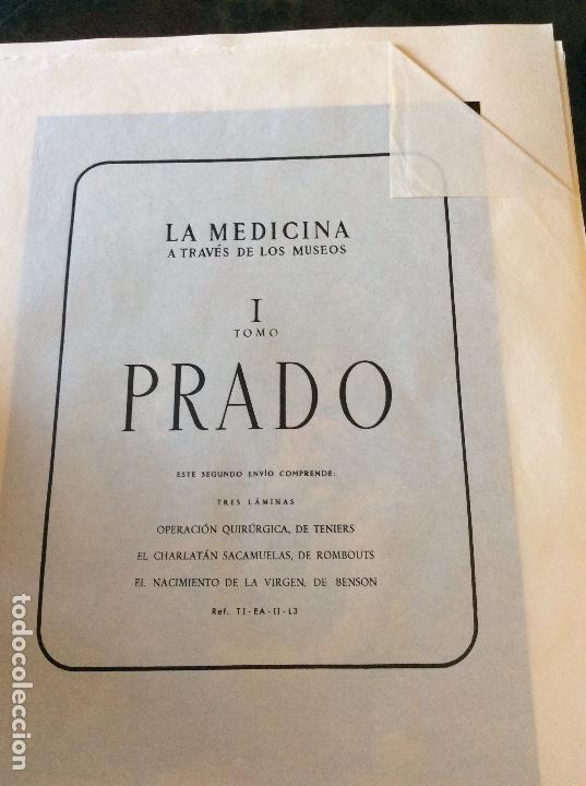 LA MEDICINA A TRAVES DE LOS MUSEOS I TOMO PRADO, 9 LAMINAS (Coleccionismo - Laminas, Programas y Otros Documentos)