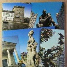 Coleccionismo: CARPETA CON 20 LAMINAS VIGO. A TRAVES DE SUS MONUMENTOS. PONTEVEDRA. GALICIA. PAPEL GRUESO. Lote 128808703