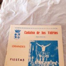 Coleccionismo: CADALSO DE LOS VIDRIOS - GRANDES FIESTAS 1988. Lote 128987423