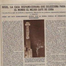 Coleccionismo: AÑO 1957 ESPAÑOLES EN CUBA REGIL CASA HISPANO CUBANA CAFE CUERVO Y SOBRINOS JOYERIA LA HABANA. Lote 129189619