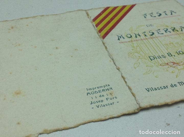 Coleccionismo: VILASSAR DE MAR - FESTA DE MONTSERRAT ANY 1910 - Foto 5 - 129226987