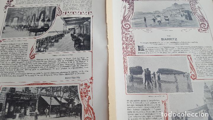 VERANEO DE 1901 EN BIARRITZ (Coleccionismo - Laminas, Programas y Otros Documentos)