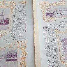 Coleccionismo: VERANEO DE 1901 SAN SEBASTIÁN PLAZA DE GUIPÚZCOA PALACIO DE LA DIPUTACIÓN. Lote 129232171
