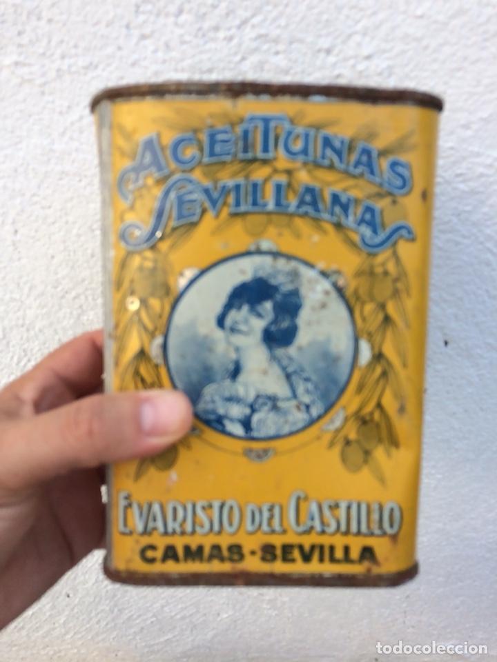 BOTE ACEITUNAS LITOGRAFIADO (Coleccionismo - Varios)