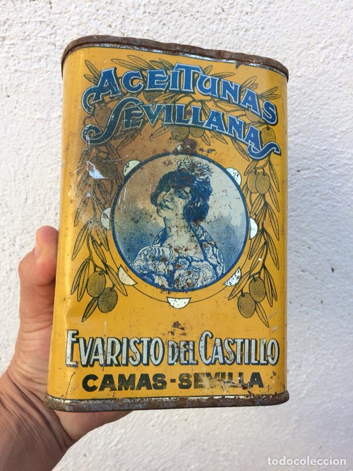 Coleccionismo: Bote aceitunas litografiado - Foto 3 - 129316855
