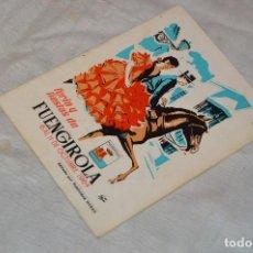 Coleccionismo: ANTIGUO Y VINTAGE - PROGRAMA DE FERIA Y FIESTAS DE FUENGIROLA, MÁLAGA - OCTUBRE DE 1964 - ENVÍO 24H. Lote 129470835