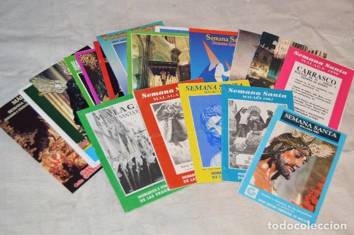GRAN LOTE DE 24 PROGRAMAS DE SEMANA SANTA DE MÁLAGA - DE LOS AÑOS 80 Y 90 - ENVÍO 24H (Coleccionismo - Laminas, Programas y Otros Documentos)