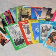 Coleccionismo: GRAN LOTE DE 24 PROGRAMAS DE SEMANA SANTA DE MÁLAGA - DE LOS AÑOS 80 Y 90 - ENVÍO 24H. Lote 129472351