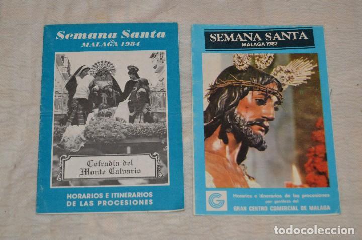 Coleccionismo: GRAN LOTE DE 24 PROGRAMAS DE SEMANA SANTA DE MÁLAGA - DE LOS AÑOS 80 Y 90 - ENVÍO 24H - Foto 2 - 129472351
