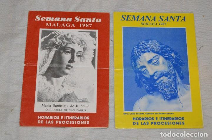 Coleccionismo: GRAN LOTE DE 24 PROGRAMAS DE SEMANA SANTA DE MÁLAGA - DE LOS AÑOS 80 Y 90 - ENVÍO 24H - Foto 5 - 129472351