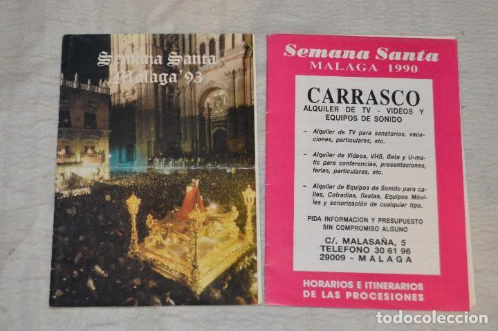 Coleccionismo: GRAN LOTE DE 24 PROGRAMAS DE SEMANA SANTA DE MÁLAGA - DE LOS AÑOS 80 Y 90 - ENVÍO 24H - Foto 9 - 129472351