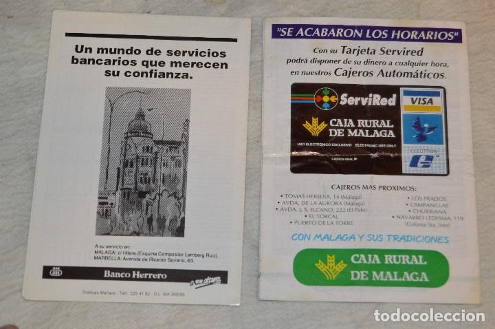 Coleccionismo: GRAN LOTE DE 24 PROGRAMAS DE SEMANA SANTA DE MÁLAGA - DE LOS AÑOS 80 Y 90 - ENVÍO 24H - Foto 14 - 129472351