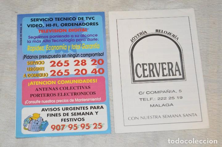 Coleccionismo: GRAN LOTE DE 24 PROGRAMAS DE SEMANA SANTA DE MÁLAGA - DE LOS AÑOS 80 Y 90 - ENVÍO 24H - Foto 18 - 129472351