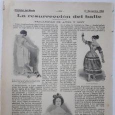 Coleccionismo - La resurrección del baile. Bailarinas de ayer y hoy. 1904 - 129557791
