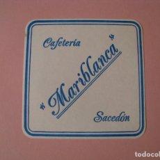 Coleccionismo: POSAVASOS CAFETERIA MARIBLANCA. SACEDON.. Lote 130076135