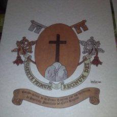 Coleccionismo: CUATRO LAMINAS ESCUDOS CAYETANO DE THIENE, 42 X 29.5 CM. Lote 130342491