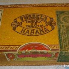 Coleccionismo: CAJA DE PUROS HABANOS - CUBA MARCA FONSECA -- 100 PERLAS (VACIA) EPOCA -PRE/REVOLCION. Lote 130605302