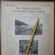 Coleccionismo: EN RONCESVALLES . 1908. Lote 131014092