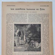 Coleccionismo: LOS SACRIFICIOS HUMANOS EN CUBA. EL CULTO DEL VUDÚ Y SUS HORRORES. 1908. Lote 131032693