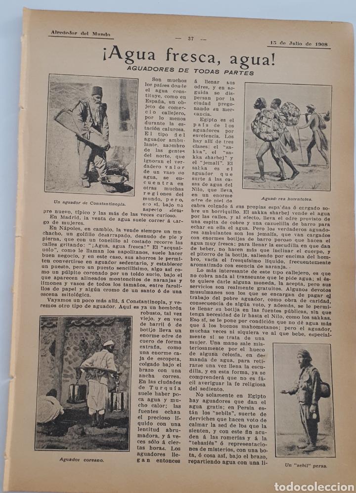 ¡AGUA FRESCA, AGUA! AGUADORES DE TODAS PARTES. 1908 (Coleccionismo - Laminas, Programas y Otros Documentos)