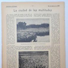 Coleccionismo: LA CIUDAD DE LAS MULTITUDES. 1908. Lote 131090624