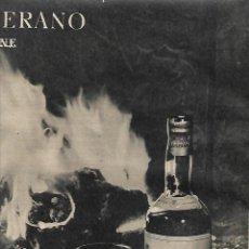 Coleccionismo: AÑO 1959 RECORTE PRENSA PUBLICIDAD BEBIDAS BRANDY VIEJO VETERANO OSBORNE. Lote 131102760