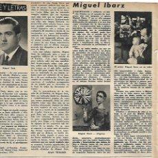 Coleccionismo: AÑO 1959 RECORTE PRENSA PINTURA MIGUEL IBARZ PINTOR MEQUINENZA. Lote 131102944