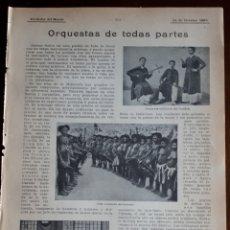 Coleccionismo: ORQUESTAS DE TODAS PARTES. 1908. Lote 131122643