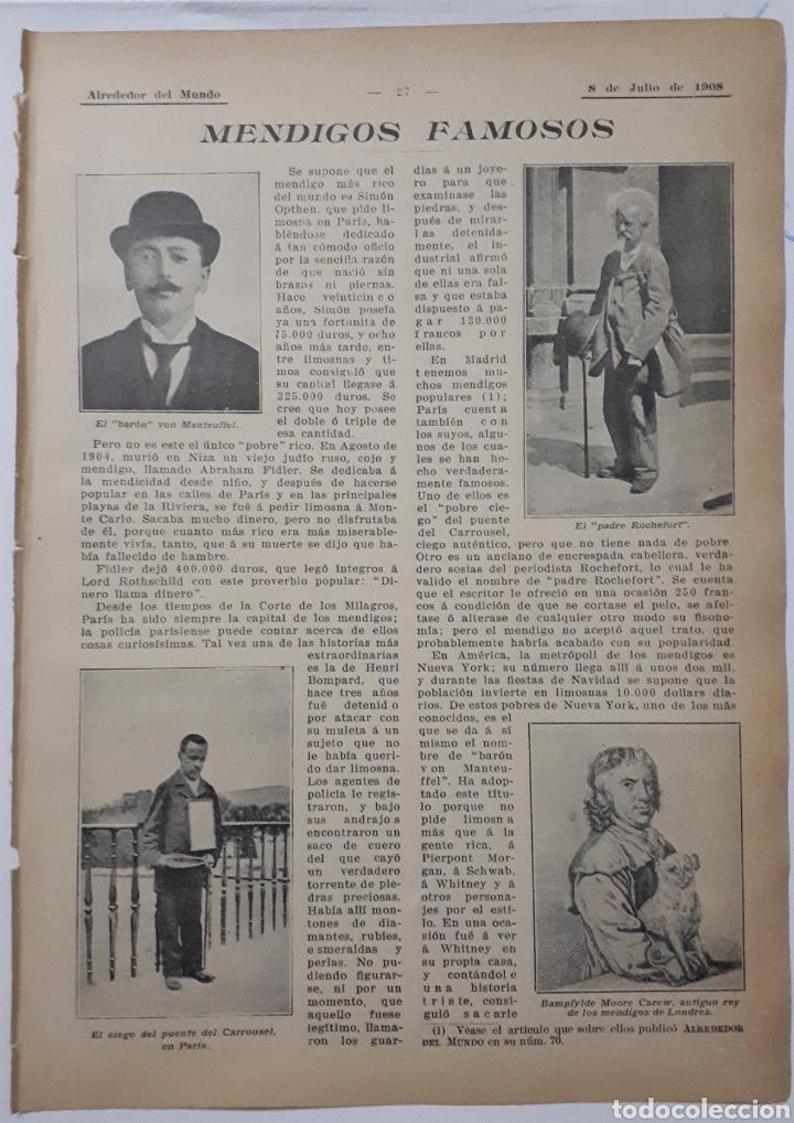MENDIGOS FAMOSOS. 1908 (Coleccionismo - Laminas, Programas y Otros Documentos)