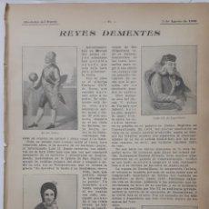 Coleccionismo: REYES DEMENTES. 1908. Lote 131134383