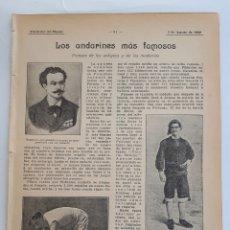 Coleccionismo: LOS ANDARINES MÁS FAMOSOS. PROEZAS DE LOS ANTIGUOZ Y LOS MODERNOS. 1908. Lote 131151773