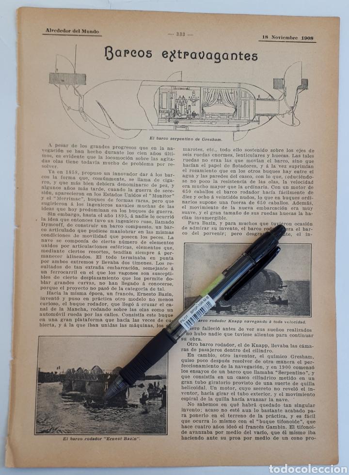 BARCOS EXTRAVAGANTES. 1908 (Coleccionismo - Laminas, Programas y Otros Documentos)