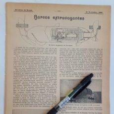 Coleccionismo: BARCOS EXTRAVAGANTES. 1908. Lote 131152839