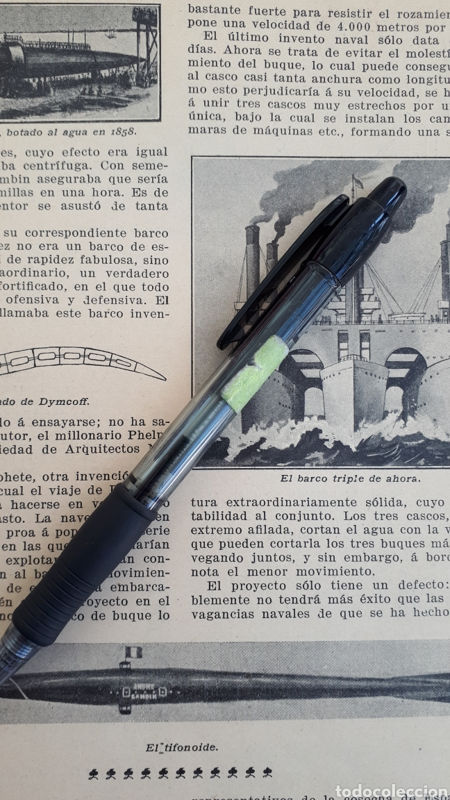 Coleccionismo: Barcos extravagantes. 1908 - Foto 2 - 131152839