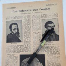Coleccionismo: LOS TESTARUDOS MÁS FAMOSOS. ALGUNOS PRODIGIOS DE LA PERSEVERANCIA. 1908. Lote 131157305