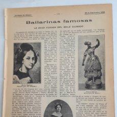 Collecting paper - Bailarinas famosas. La edad dorada del baile clásico. 1908 - 131160297