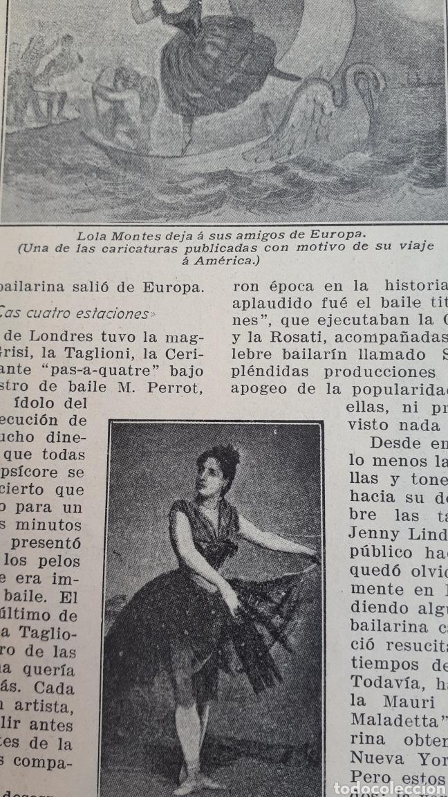 Coleccionismo: Bailarinas famosas. La edad dorada del baile clásico. 1908 - Foto 2 - 131160297