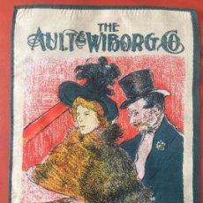 Coleccionismo: THE AULT & WIBORG CO. MAKERS OF FINE PRINTING , PARIS , PAÑUELO SERIGRAFIADO , PUBLICIDAD . Lote 131176248