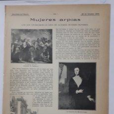 Coleccionismo: MUJERES ARPÍAS. 1908. Lote 131198383