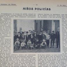 Coleccionismo: NIÑOS POLICÍAS. 1908. Lote 131226718