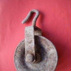 Coleccionismo: CARRUCHA.-POLEA.-ANTIGUA CARRUCHA.. Lote 165692192