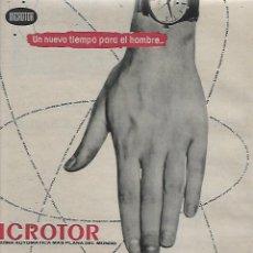 Coleccionismo: AÑO 1959 RECORTE PRENSA PUBLICIDAD RELOJ MICROTOR UNIVERSAL GENEVE. Lote 131305867