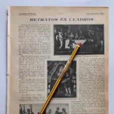 Coleccionismo: RETRATOS EN CUADROS. 1908. Lote 131505442