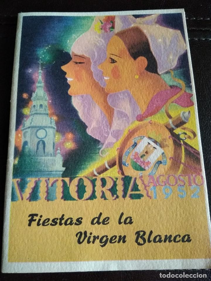 PROGRAMA FIESTAS VITORIA 1952. (Coleccionismo - Laminas, Programas y Otros Documentos)