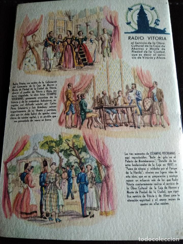 Coleccionismo: Programa fiestas Vitoria 1952. - Foto 2 - 131570150